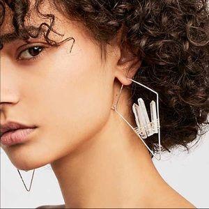 FP Mint Geode Threader Earrings in white